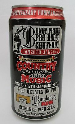 Bundaberg Bundy Rum 1997 Country Music Festival can for home bar or collector