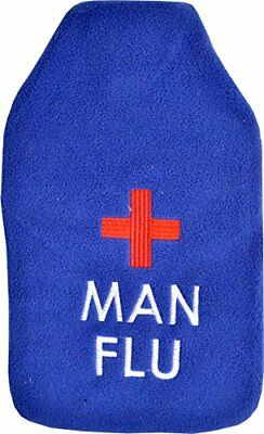 VAGABOND BAGS 2 LITRE MAN FLU HOT WATER BOTTLE AND COVER Nuovo Salute e bellezza