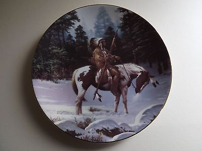Hamilton Collection Plate Solitary Hunter - The Last Warriors (70,195)