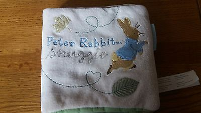 Peter Rabbit Naturally Better Snuggle Cloth Book Comforter FREE POSTAGE