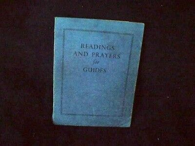 READINGS AND PRAYERS FOR GUIDES by M A Campbell 1953 pb GIRL GUIDES