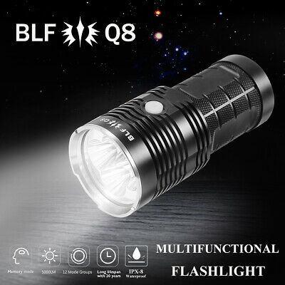 BLF Q8 5000LM Super Bright 4xLED Tactical Flashlight Multiple Operation Torch