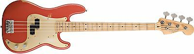 Fender Road Worn 50's Precision Bass, Fiesta Red & Gig Bag