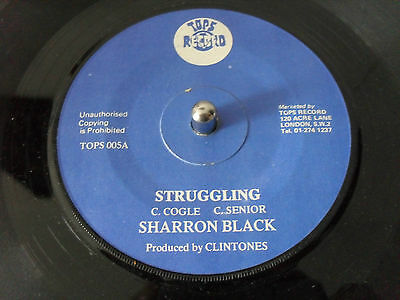 SHARRON BLACK STRUGGLING TOPS RECORDS 1970s