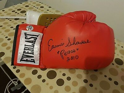Earnie Shavers Personally Signed Everlast Boxing Glove