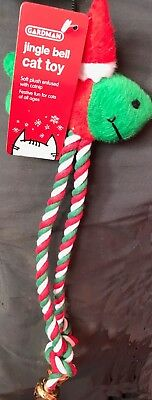 Jingle Bell Christmas Cat Toy with Catnip
