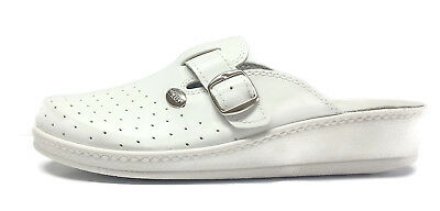 Womens Leather All Day Comfort Clog/Mules.