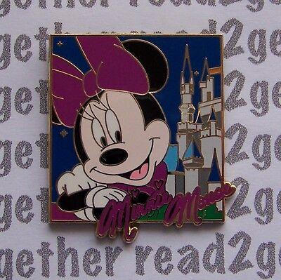 Disney Pin WDW Booster Character Autographs and Cinderella Castle Minnie Mouse