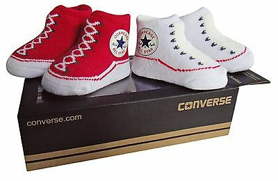 Converse Baby Bootie Socks Gift Box - Red & White - 2 Pack