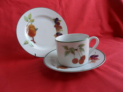 Royal Worcester, Evesham Vale, Trio (Cup, Saucer & Plate)