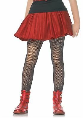 Leg Avenue Kids Fishnet Tights : Black