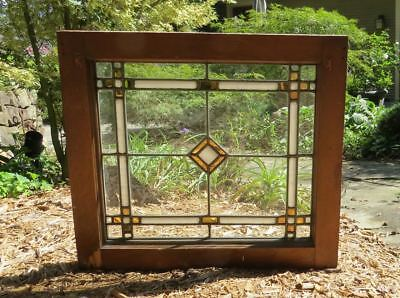 Antique Mission Stained Glass, Unusual Gold Mirrored Glass. Very Desirable.