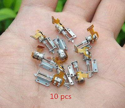 10x Micro Screw Stepper Motors Miniature 2-phase 4-wire step motor driver T*