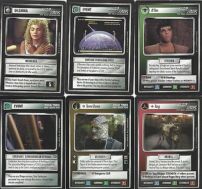 6 cards Star Trek Customizable Card Game CCG - genau die auf dem Scan 2