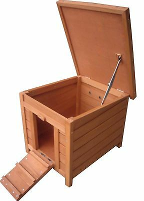 Wood Pet Kennel House Small Wooden Rabbit Ducks Dog Cat Shelter Outdoor Patio
