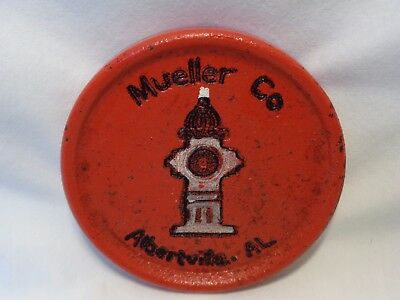 Vtg Advertising Cast Iron MUELLER FIRE HYDRANT Albertville Al Paperweight Deco