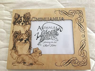 Chihuahua  Laser Engraved Birch Picture Frame Mattes by Roger Kibbee