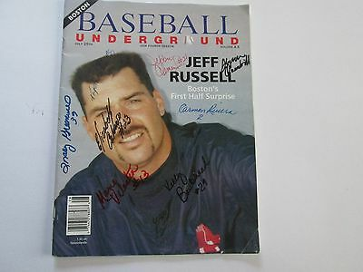 Boston Baseball Underground Magazine July 25th 1993 Autographed By The Player's