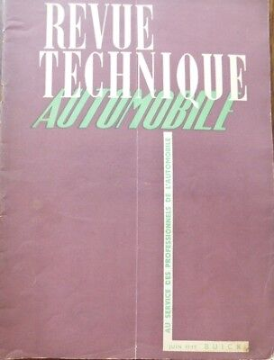 Revue technique BUICK types 40 50 60 70 90 ROADMASTER 1942 à 1948 RTA JUIN 1949
