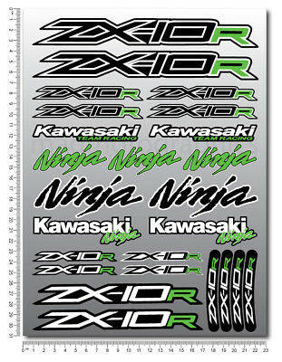 ZX-10R Ninja racing motorcycle decals stickers set fairing zx10r ZXR Laminated