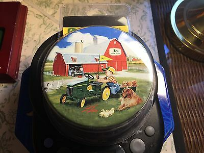 John Deere Beverage Coasters New in package Zolan fine Arts JD Licensed Lot#0350