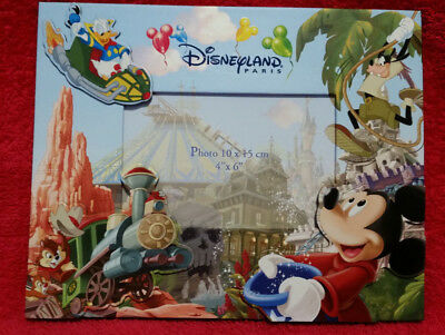 """Disneyland Paris Photo Frame with Sorcerer Mickey & Attractions 4"""" x 6"""" 10x15cm"""