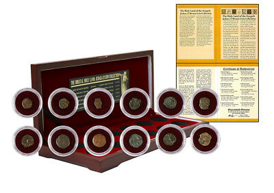 Biblical Holy Land : Box of 12 Ancient Judaea Coin Set from the Time of Jesus