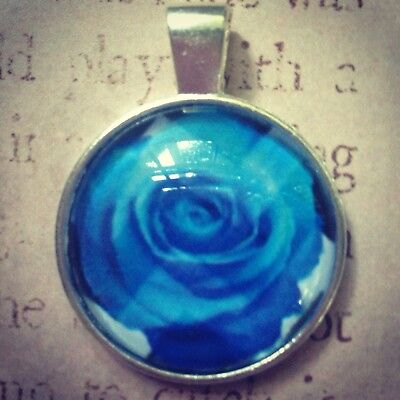 Twin Peaks necklace pendant BLUE ROSE necklace - Twin Peaks gifts collectibles