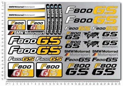 F800GS Adventure motorrad motorcycle quality stickers decals bmw f800 GS yellow
