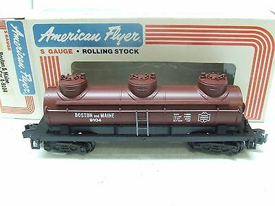 American Flyer Boston & Maine Three Dome Tank Car 9104
