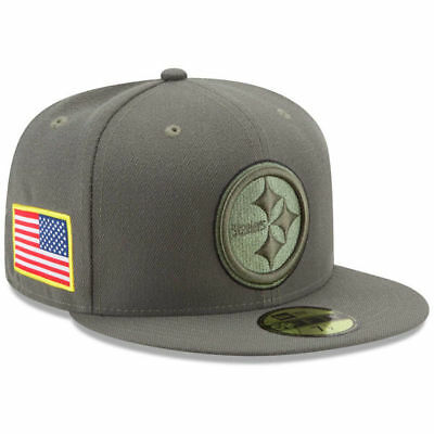 2017 Pittsburgh Steelers New Era 59FIFTY NFL Salute To Service Fitted Cap Hat