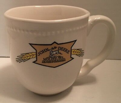 John Deere White Coffee Mug Moline Illinois Farming Tractor