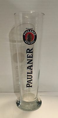 "Paulaner Munchen Germany 9.75"" Tall Beer Clear Glass 0.5 L"