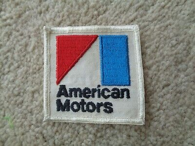 AMC AMERICAN MOTORS SEW ON PATCH -NOS Original Vintage AUTO CAR 2 3/4 X 2 3/4