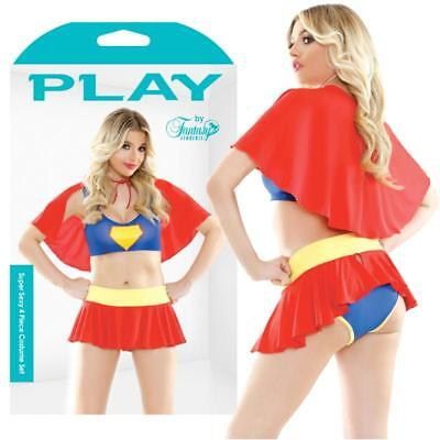 Play Super Sexy 4 Pc. Set; Red S/M