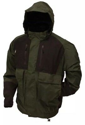 Frogg Toggs Firebelly Toadz Jacket Green & Black NT6201 Rain Waterproof - Large