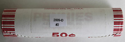 2009 D Roll Lincoln Cent Formative Years LP #2 Lincoln Bicentennial 50 Coins