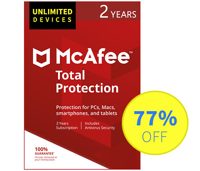 McAfee Total Protection 2018 2017 - Unlimited devices, 2 Years (Subscription)