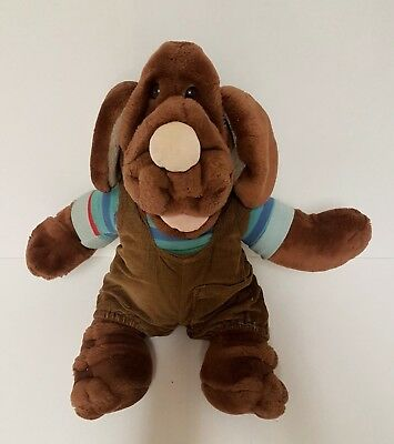 Rare Vintage WRINKLES DOG HAND PUPPET by Ganz Bros - Soft Toy - 1981
