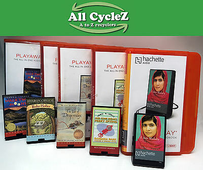 Lots of 5 PLAYAWAY HD Audio Book Good Playable Condition