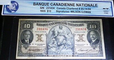 1935 $10 Banque Canadienne Nationale