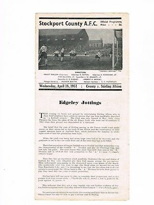 Stockport County v Stirling Albion 50/1 Friendly