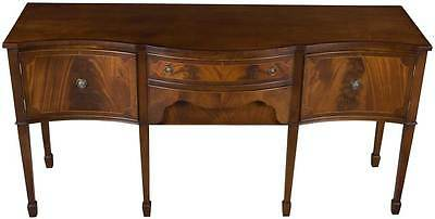 Traditional Antique Style Vintage Mahogany Serpentine Front Sideboard Buffet