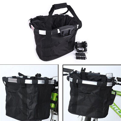 Bicycle Basket Bicycle Aluminum Alloy Bike Detachable Cycle Front Carrier Bag X3