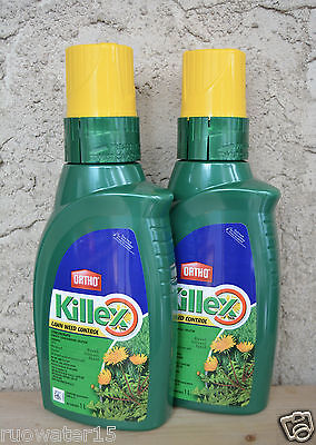Ortho Killex Lawn Weed Control Concentrate 1L Herbicide Killer . Qty 2 Bottles