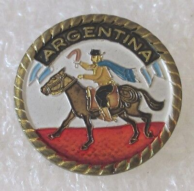 Vintage Argentina Travel Souvenir Collector Pin