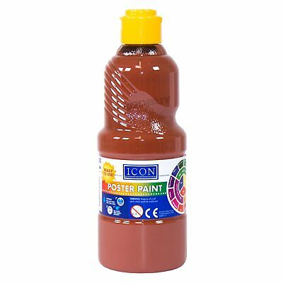 500ml Large Bottle of Poster Tempera Paint Non-Toxic Water Colour Childrens 3+
