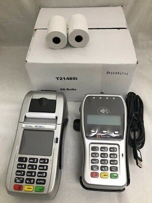 FD-130 Duo, FD-35 PINpad w/Wells 350 Encryption, Spill Cover, Stand and Paper