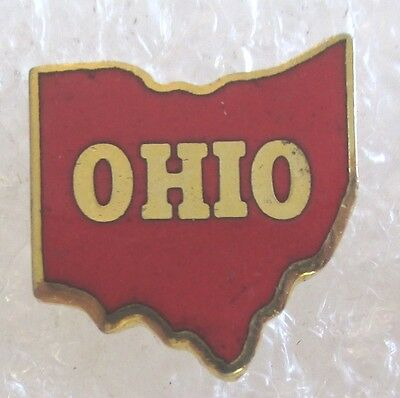 State of Ohio Map Travel Souvenir Collector Pin