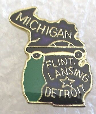 State of Michigan Map Travel Souvenir Collector Pin